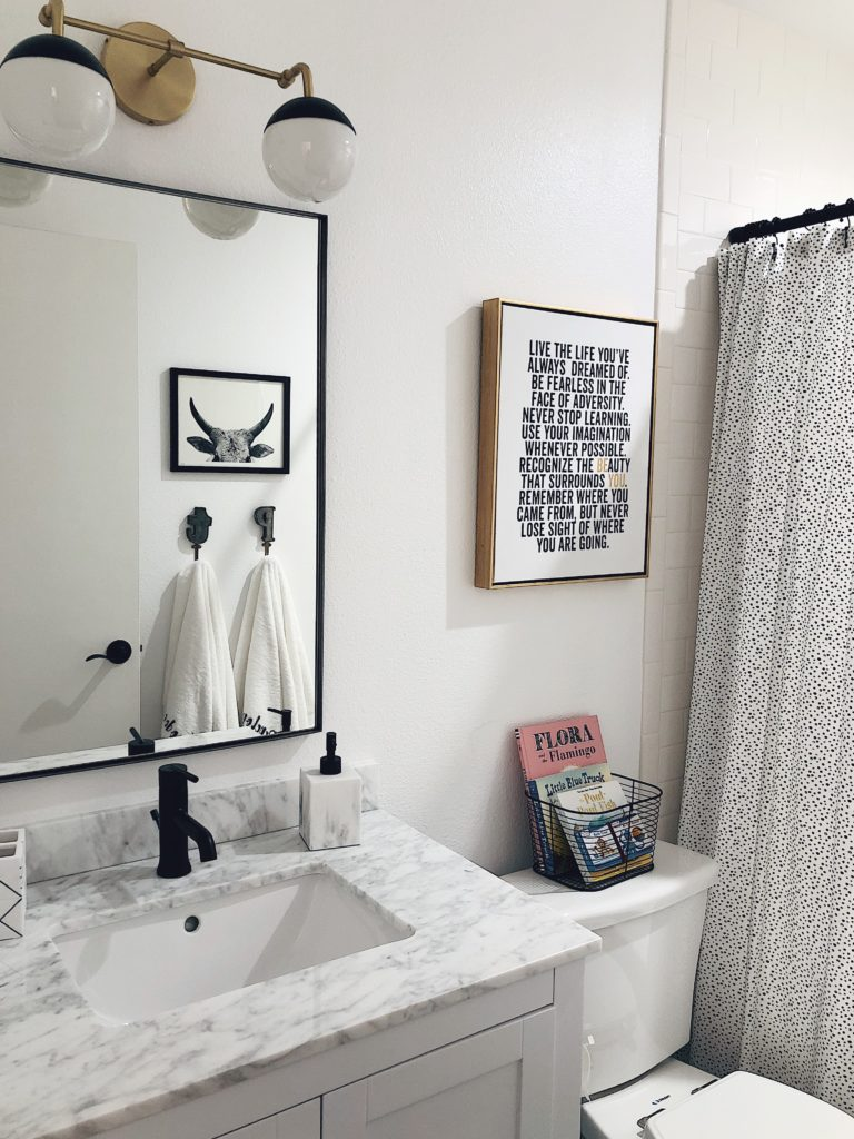 How I Created A Fun Modern Gender Neutral Kids Bathroom